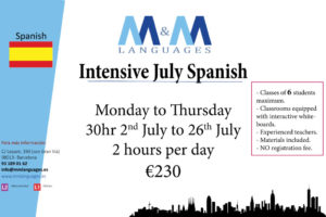 Spanish july intensive 2018